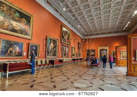 Interior Of State Hermitage In St.petersburg