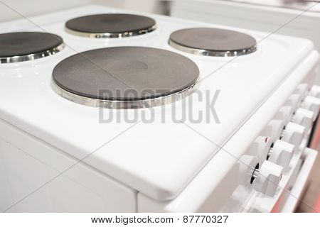 The image of an electric stove