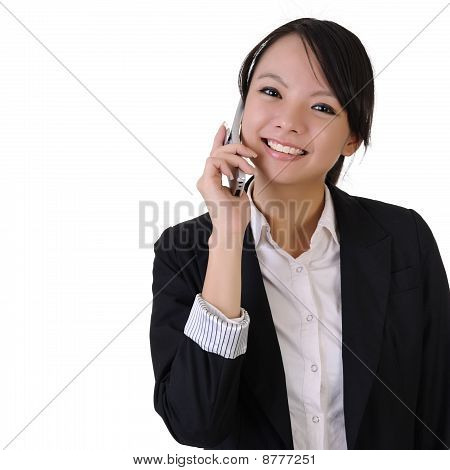 Business Woman with Handy