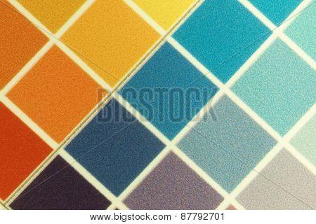 Test Print, Yellow, Orange, Cyan, Violet