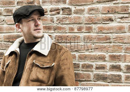 Cool Guy Brick Wall