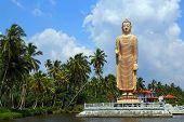 Peraliya Buddha Statue, the Tsunami Memorial in Hikkaduwa, Sri Lanka poster