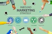 Inbound Marketing Strategy Advertisement Commercial Branding Concept poster