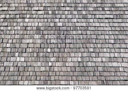Gray wooden shingles