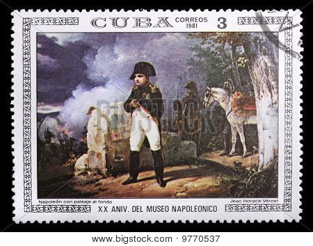Cuba Stamp With Napoleon