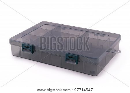Plastic Box For Fishing Baits (clipping Path)
