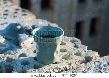 blue ceramic glass