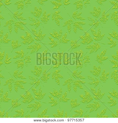Green grunge floral seamless