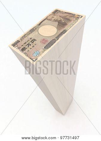Japanese Yen Banknotes Tower