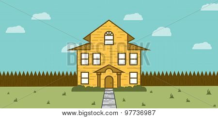 Wooden House Real Estate for Sale