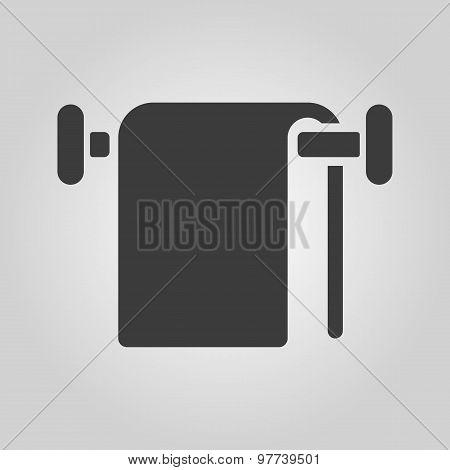The towel icon. Bathroom symbol. Flat