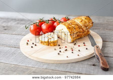 baked chicken pastrami