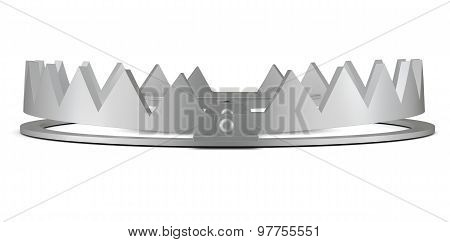 Bear trap on white without chain