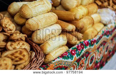 bakery salling on a street bakery fair