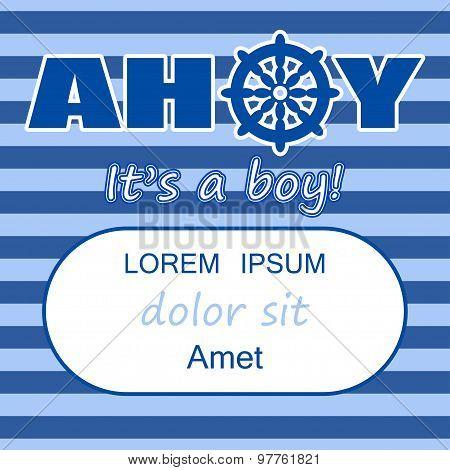 Ahoy Its A Boy