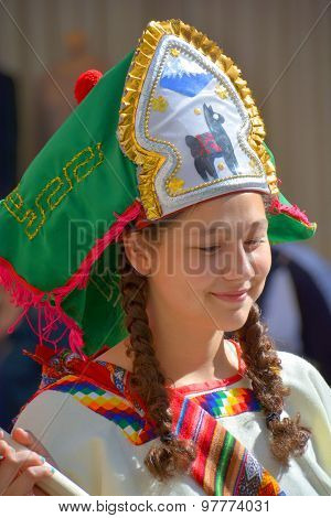 Peruvian Marinera dancer