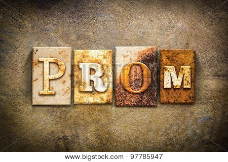 Prom Concept Letterpress Leather Theme