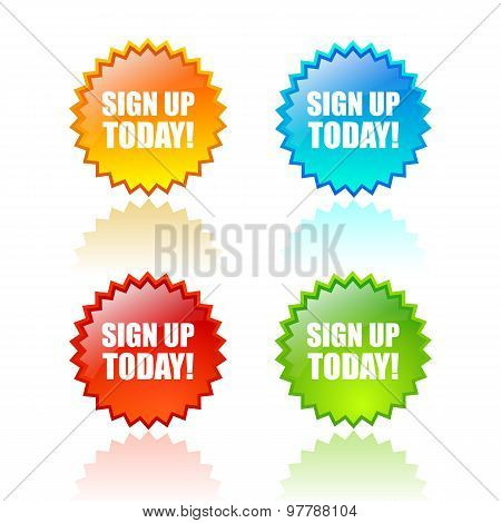 Sign up today icon