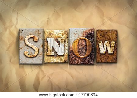 Snow Concept Rusted Metal Type