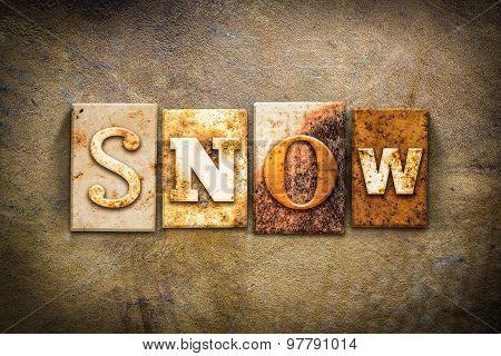 Snow Concept Letterpress Leather Theme