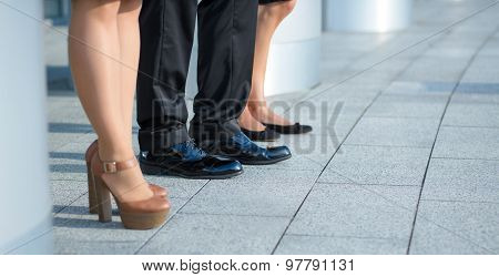 Legs of business people