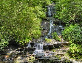 Tom Branch Falls In North Carolina