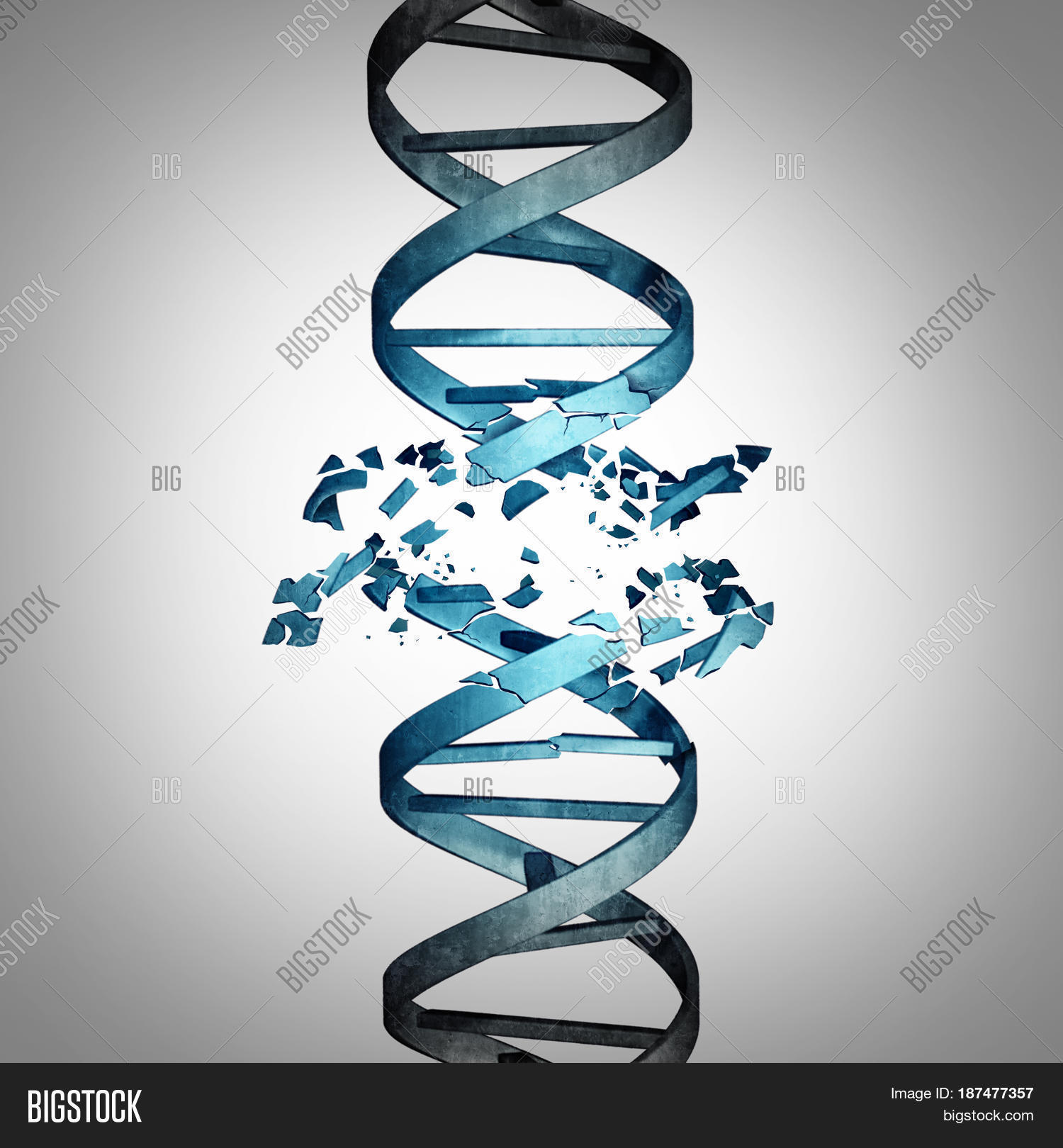 Damaged Dna Genetic Image Photo Free Trial Bigstock