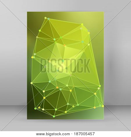 Modern Triangle Background 3D Effect Cover Page Brochure A4 Format24