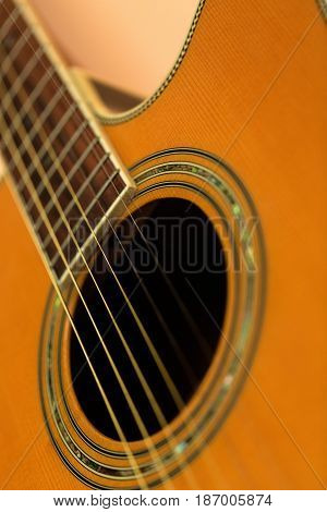 Guitar sound acoustic guitar music close up classical guitar musical instrument