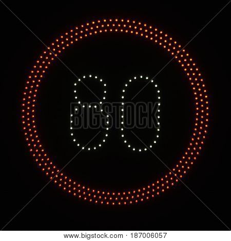 Led Light Speed Limit Sign - 80