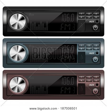 Car audio. Vector isolated on white background. Illustration.