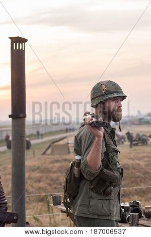 01 October 2016. A historical reenactment of the Wars History in Kiev, Ukraine.