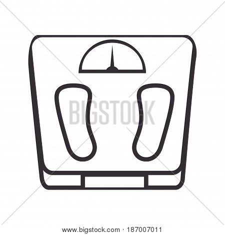 scale balance gym isolated icon vector illustration design