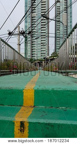 Gree overpass outdoor and background . .
