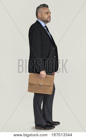 Caucasian Business Man Side View