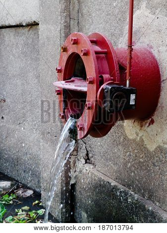 lot of water pipe drain and background