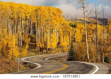 Scenic view to the highlands on the byway 12 in Utah USA