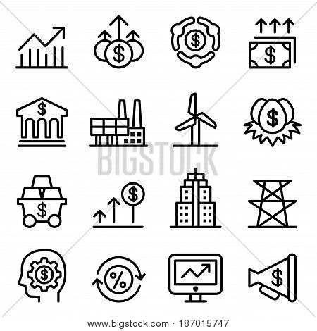 Stock market & Stock exchange icons vector illustration