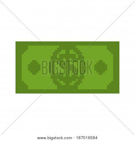 Money Pixel Art. Cash Is Pixel. Dollar 8 Bits