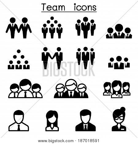 Business Team icons Vector illustration Graphic design