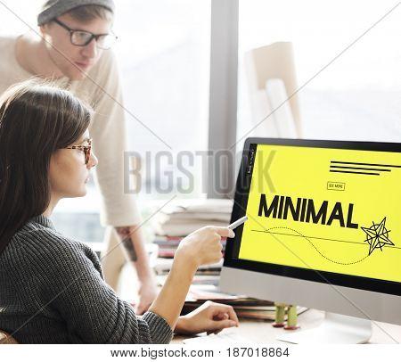 Minimal Minimum Icon Symbol Yellow