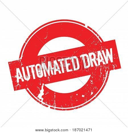 Automated Draw rubber stamp. Grunge design with dust scratches. Effects can be easily removed for a clean, crisp look. Color is easily changed.