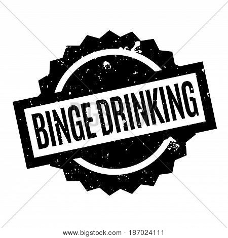 Binge Drinking rubber stamp. Grunge design with dust scratches. Effects can be easily removed for a clean, crisp look. Color is easily changed.