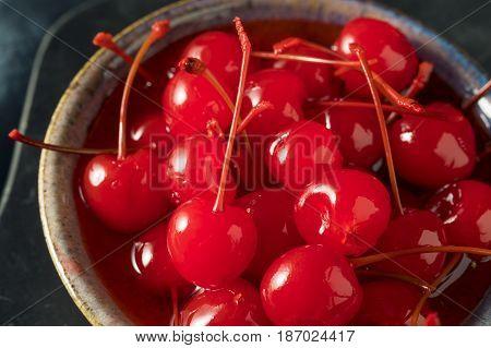 Sweet Red Maraschino Cherries