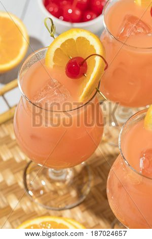 Homemade Alcoholic Hurricane Cocktail Drink