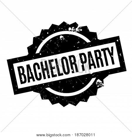 Bachelor Party rubber stamp. Grunge design with dust scratches. Effects can be easily removed for a clean, crisp look. Color is easily changed.