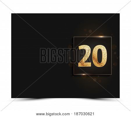 20th anniversary decorated greeting / invitation card template.