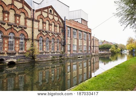 OXFORD/ UK- OCTOBER 26 2016: Exterior Of Osney Power Staion, Botley