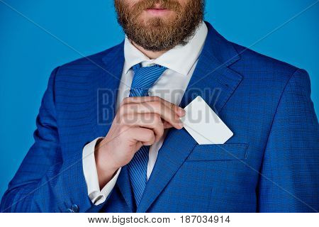 Man With Business Or Credit Card, Business Ethics