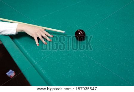 Player trying to hit the ball close up